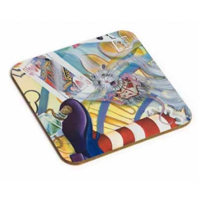 Mouse and Stripy Sock Coaster