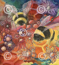 Busy as Bees | Print