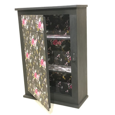 'Coming Up Roses' Mirrored Cabinet
