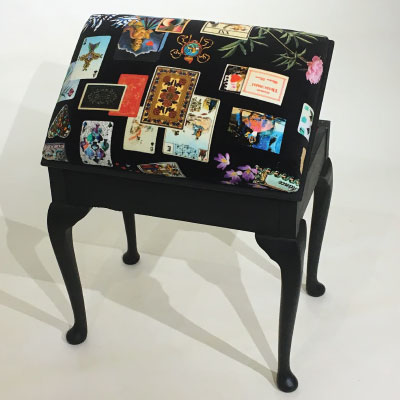 Piano Stool With Christian Lacroix Fabric